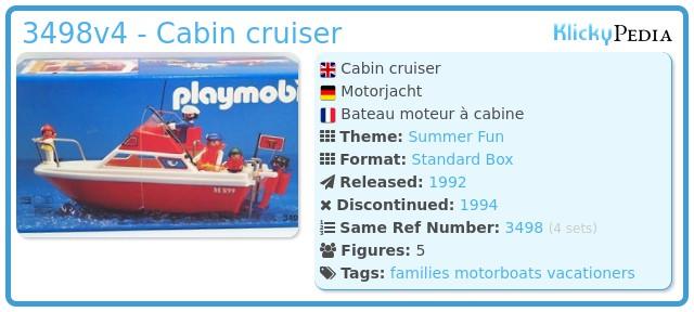 Playmobil 3498v4 - Cabin cruiser