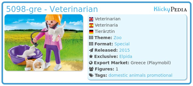Playmobil 5098-gre - Veterinarian
