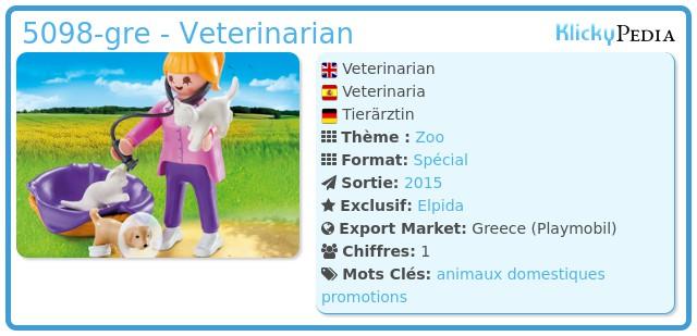 Playmobil 5098-gre - Veterinarian