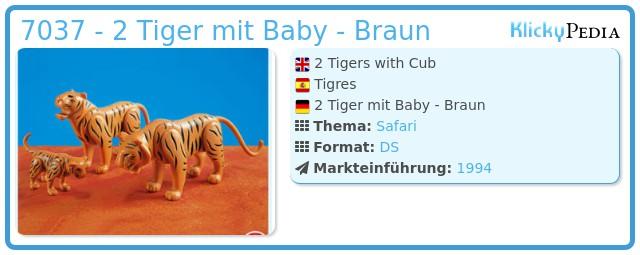 Playmobil 7037 - 2 Tiger mit Baby - Braun