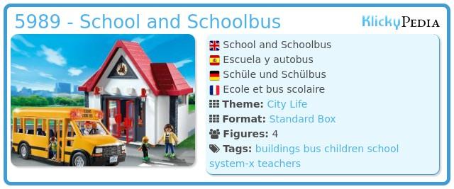 Playmobil 5989 - School and Schoolbus