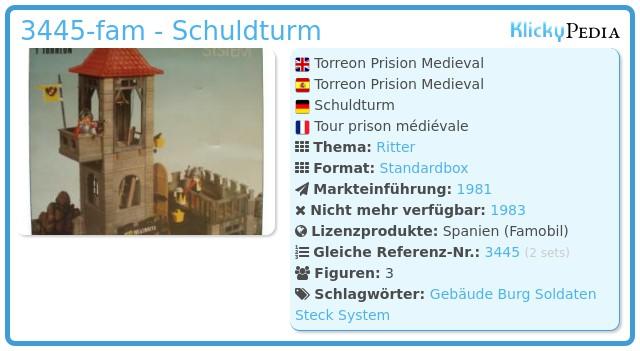 Playmobil 3445-fam - Schuldturm