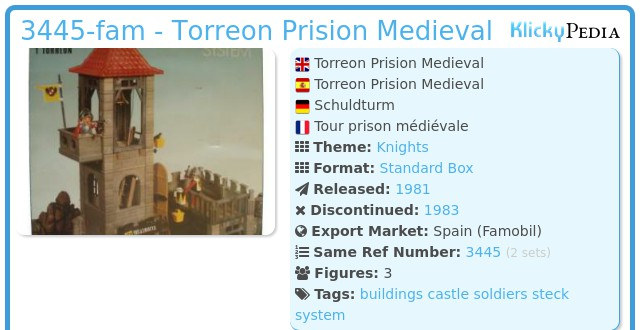 Playmobil 3445-fam - Torreon Prision Medieval