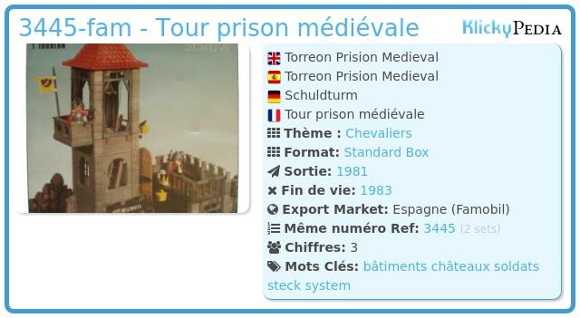 Playmobil 3445-fam - Tour prison médiévale