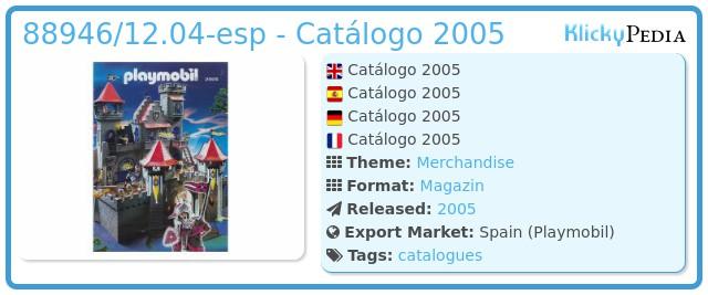 Playmobil 88946/12.04-esp - Catálogo 2005