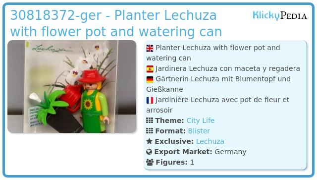 Playmobil 30818372-ger - Planter Lechuza with flower pot and watering can