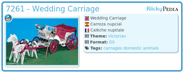 Playmobil 7261 - Wedding Carriage