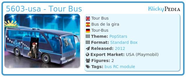 Playmobil 5603-usa - Tour Bus