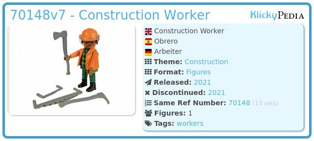 Playmobil 70148v7 - Construction worker
