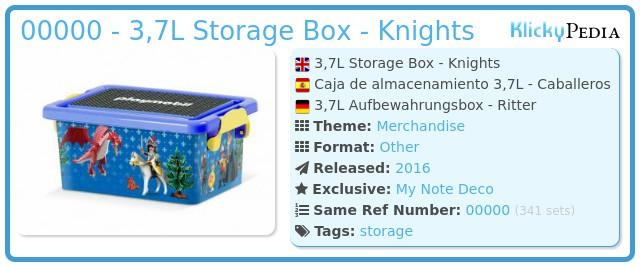 Playmobil 00000 - 3,7L Storage Box - Knights