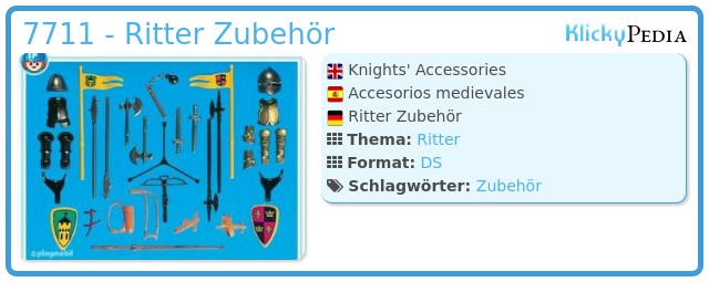 Playmobil 7711 - Ritter Zubehör