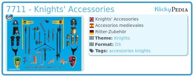 Playmobil 7711 - Knights' Accessories