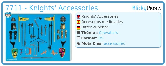 Playmobil 7711 - Knights' Accessories