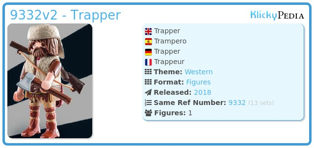 Playmobil 9332v2 - Trapper