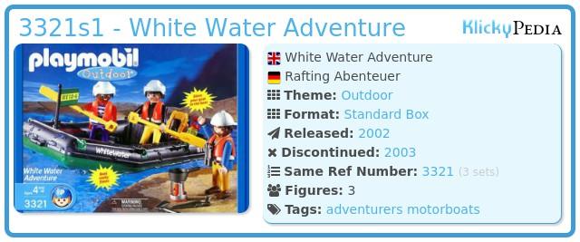 Playmobil 3321s1 - White Water Adventure
