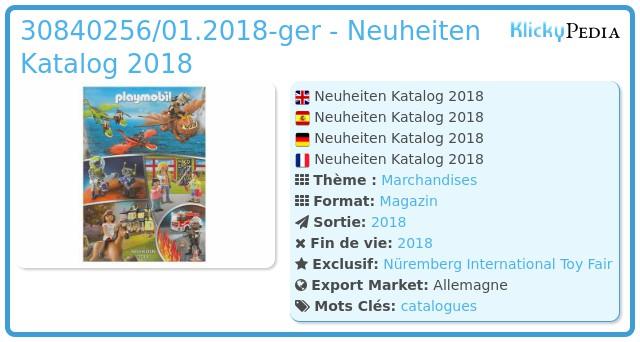 Playmobil 30840256/01.2018-ger - Neuheiten Katalog 2018