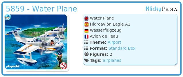 Playmobil 5859 - Water Plane
