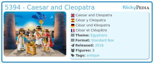 Playmobil 5394 - Caesar and Cleopatra