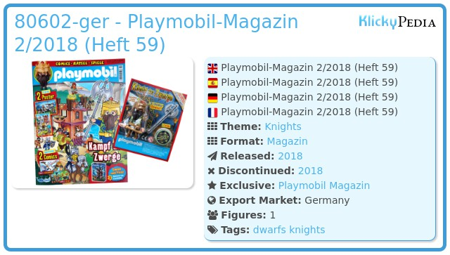 Playmobil 80602-ger - Playmobil-Magazin 2/2018 (Heft 59)