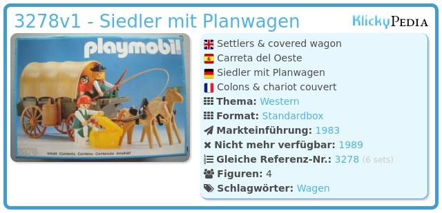 Playmobil 3278v1 - Siedler mit Planwagen