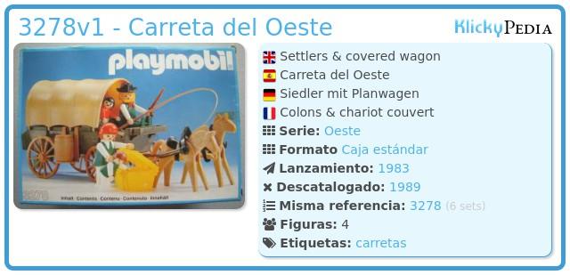 Playmobil 3278v1 - Carreta del Oeste