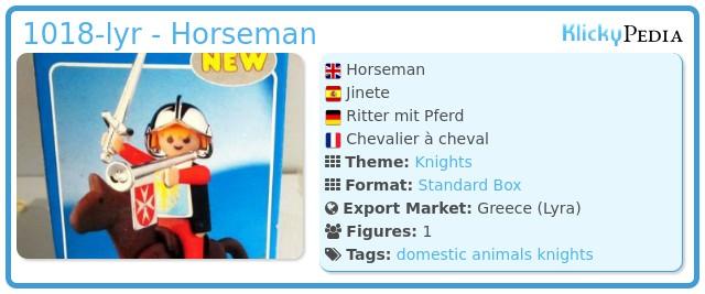 Playmobil 1018-lyr - Horseman