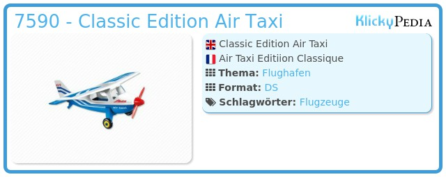 Playmobil 7590 - Classic Edition Air Taxi