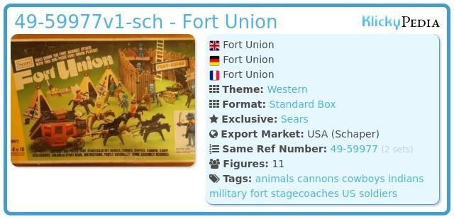 Playmobil 49-59977v2-sch - Fort Union