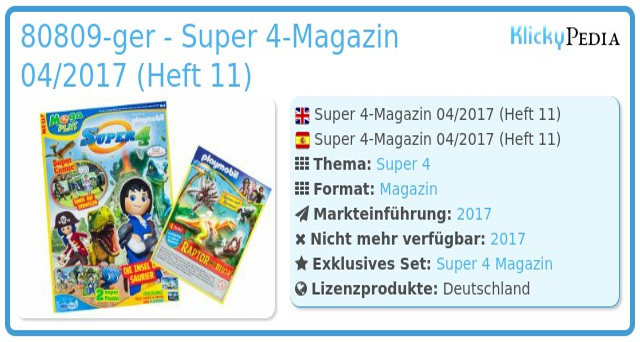 Playmobil 80809-ger - Super 4-Magazin 04/2017 (Heft 11)