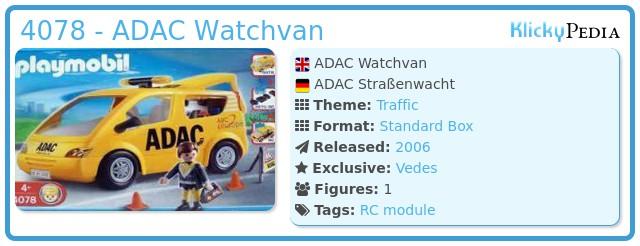 Playmobil 4078 - ADAC Watchvan
