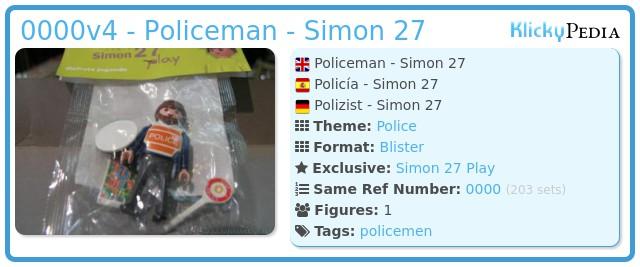 Playmobil 0000v4 - Policeman - Simon 27