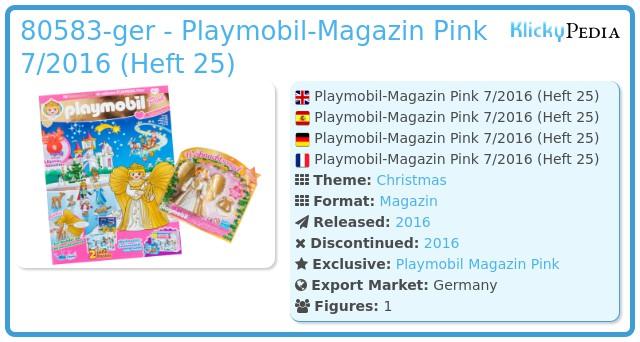 Playmobil 80583-ger - Playmobil Magazin Pink 07/2016 (Heft 25)