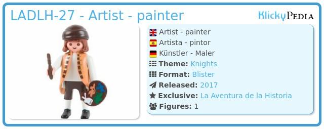 Playmobil LADLH-27 - Artist - painter