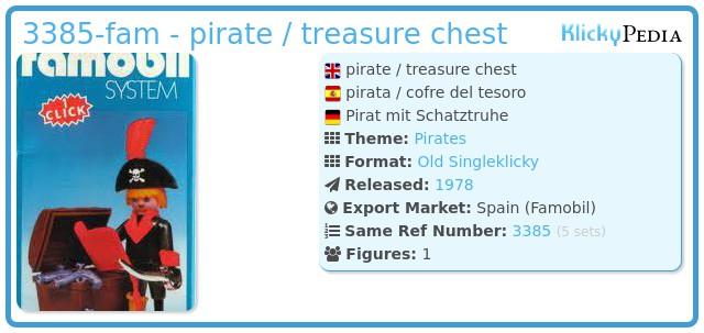 Playmobil 3385-fam - pirate / treasure chest