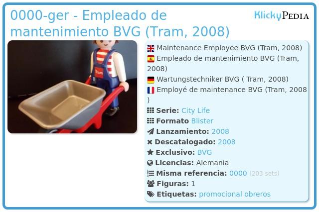 Playmobil 0000-ger - Empleado de mantenimiento BVG (Tram, 2008)