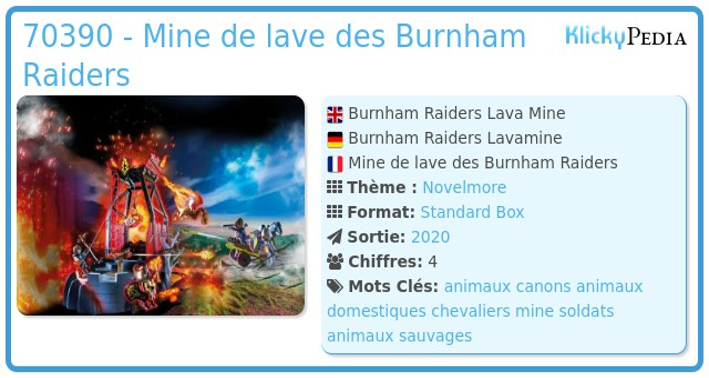 Playmobil 70390 - Mine de lave des Burnham Raiders