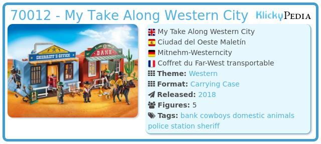 Playmobil 70012 - My Take Along Western City