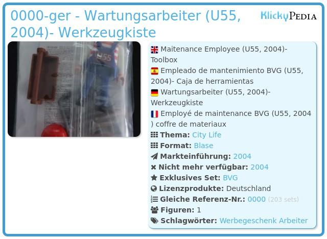 Playmobil 0000-ger - Wartungsarbeiter (U55, 2004)- Werkzeugkiste