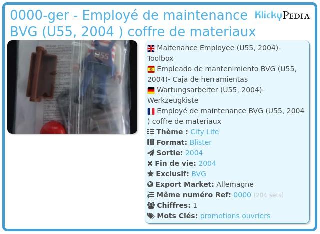 Playmobil 0000-ger - Employé de maintenance BVG (U55, 2004 )  coffre de materiaux