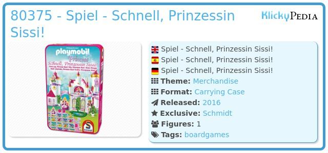 Playmobil 80375 - Spiel - Schnell, Prinzessin Sissi!