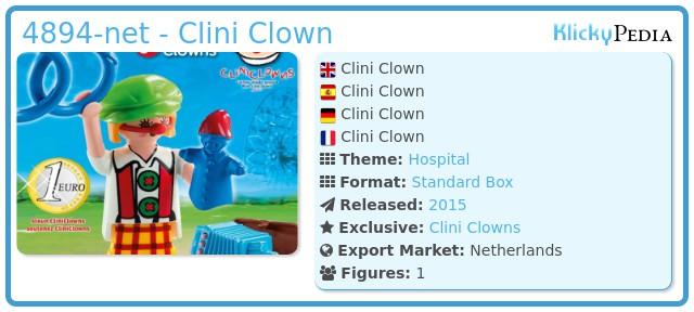 Playmobil 4894-net - Clini Clown