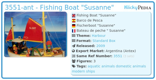 Playmobil 3551-ant - Fishing Boat