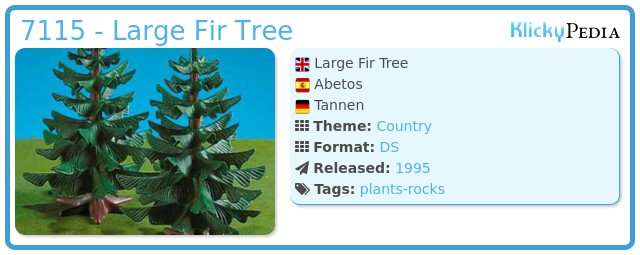 Playmobil 7115 - Large Fir Tree