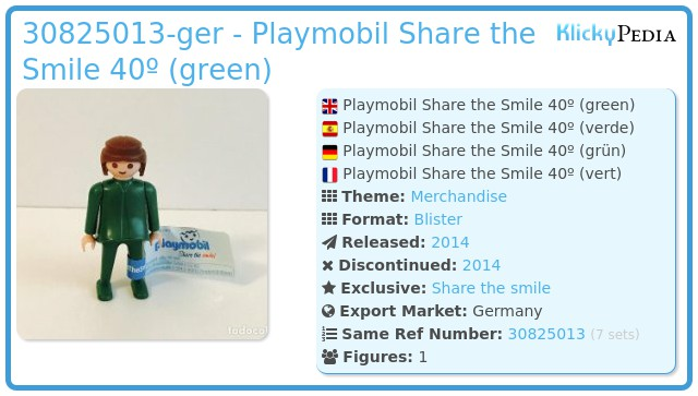 Playmobil 30825013-ger - Playmobil Share the Smile 40º (green)