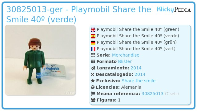 Playmobil 30825013-ger - Playmobil Share the Smile 40º (verde)