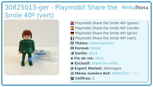 Playmobil 30825013-ger - Playmobil Share the Smile 40º (vert)