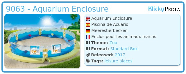 Playmobil 9063 - Aquarium Enclosure