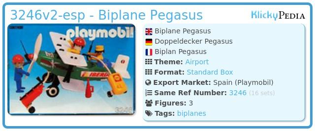 Playmobil 3246v2-esp - Biplane Pegasus