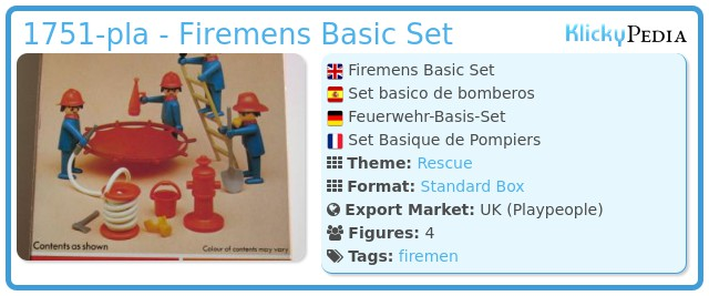 Playmobil 1751-pla - Firemens Basic Set