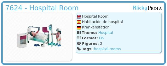 Playmobil 7624 - Hospital Room